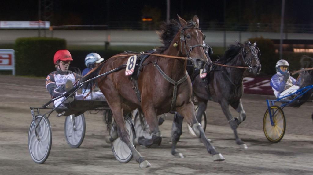 Call Me Hanover og Erlend Rennesvik vinner V65-5 overbevisende på Bjerke sist onsdag. Foto: Anders Kongsrud/www.hesteguiden.com.