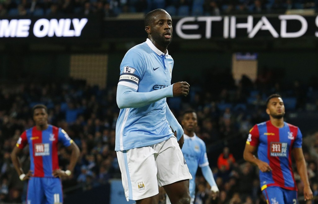 HELT OVERLEGEN: Yaya Toure og Manchester City hadde full kontroll på Crystal Palace i midtuken.