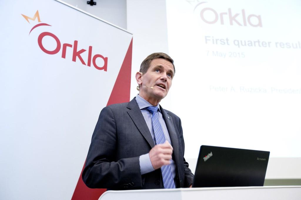 Orkla kan vise til sterkere vekst enn ventet og resultatfremgang i tredje kvartal. Her Orklas konsernsjef Peter A. Ruzicka.