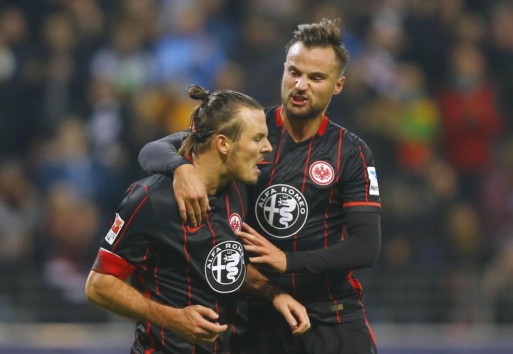 STRAFFESCORET: Alexander Meier scorer på alle mulige vis: Sist på straffe mot Borussia Mönchengladbach.