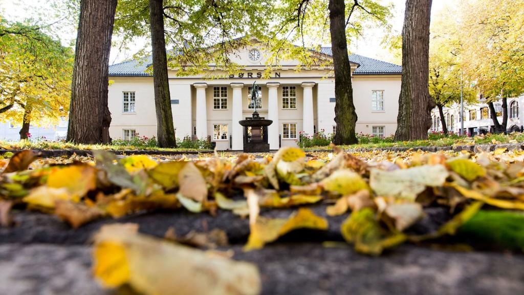 Oslo Børs på høsten.