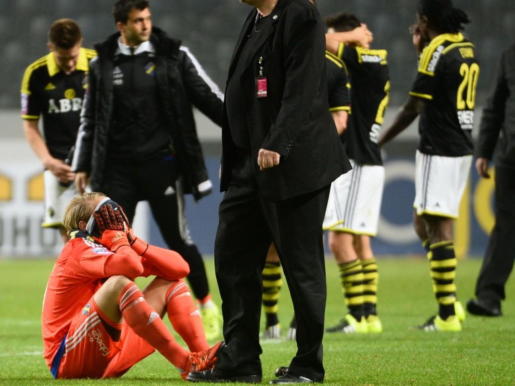 SMERTEFULLT: AIK depper etter det voldsomt fatale 1-2-tapet forrige mandag.