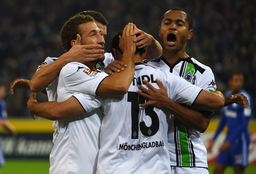 I STRÅLENDE FORM: Her feirer Borussia Mönchengladbach enda en seier.