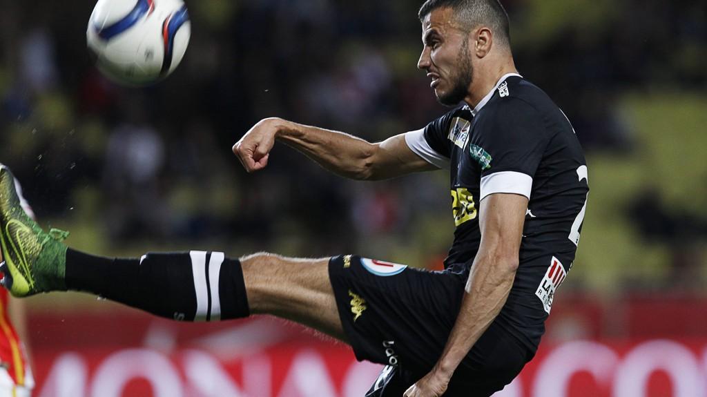 Angers marokkanske midtbanespiller Romain Saiss fra oppgjøret borte mot Monaco sist helg.