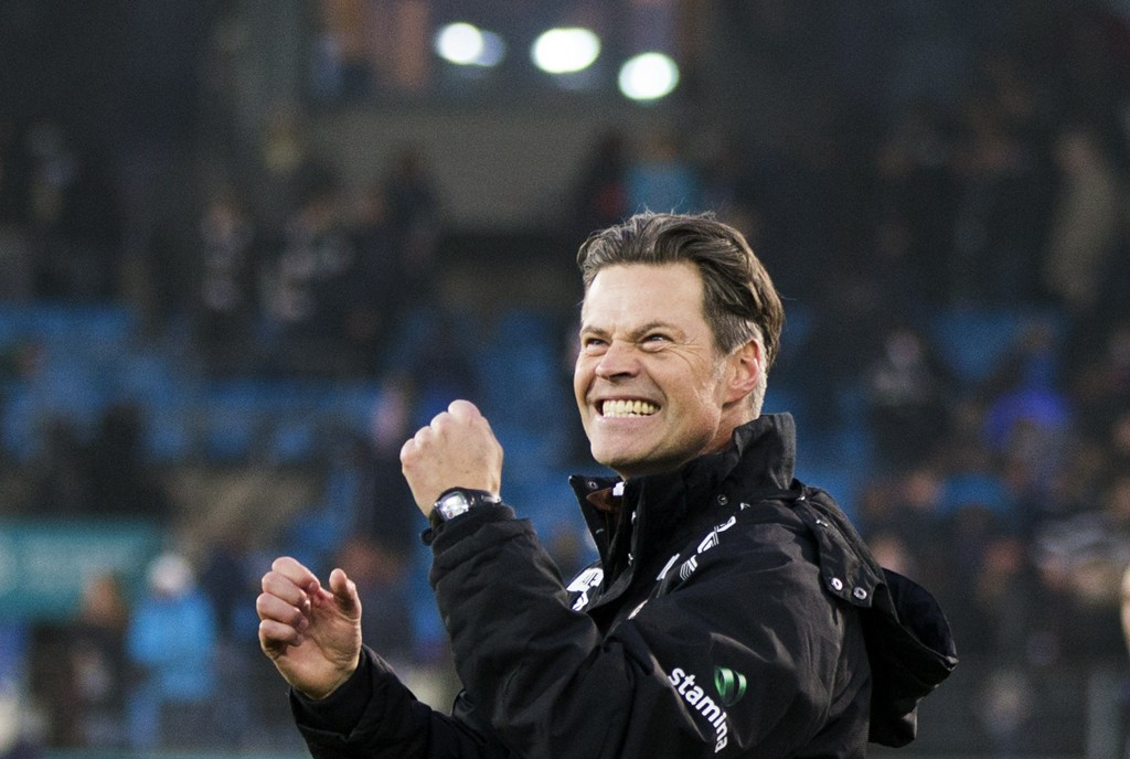 Mjøndalen-trener Vegard Hansen håper på seier borte mot Viking søndag kveld.