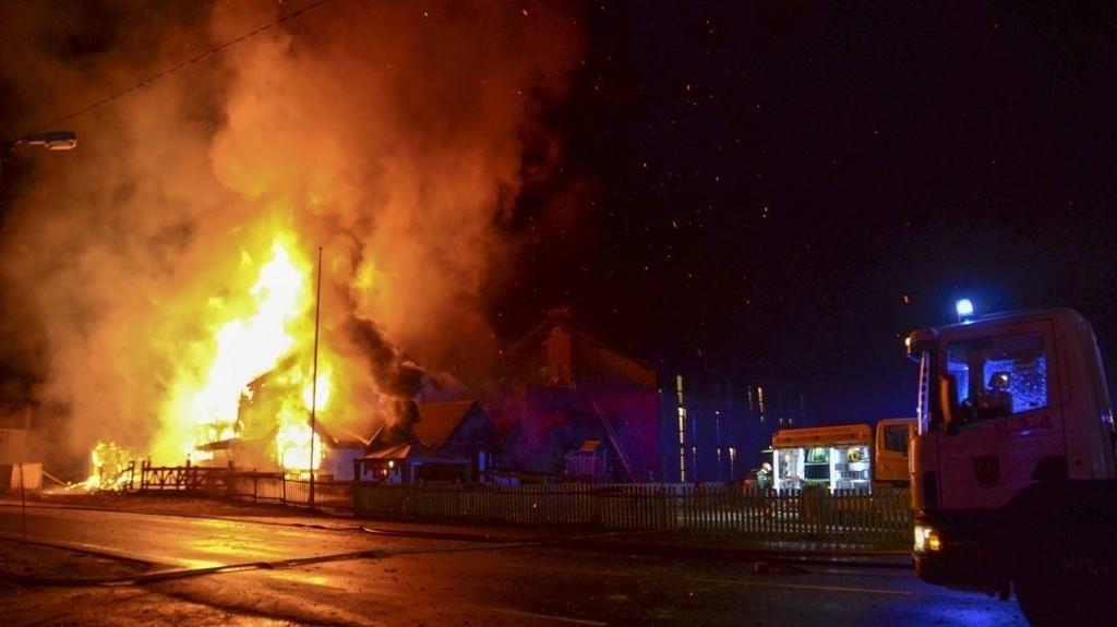 Det brøt ut brann ved asylmottaket på Tuv natt til onsdag 11. november. 162 personer ble evakuert.