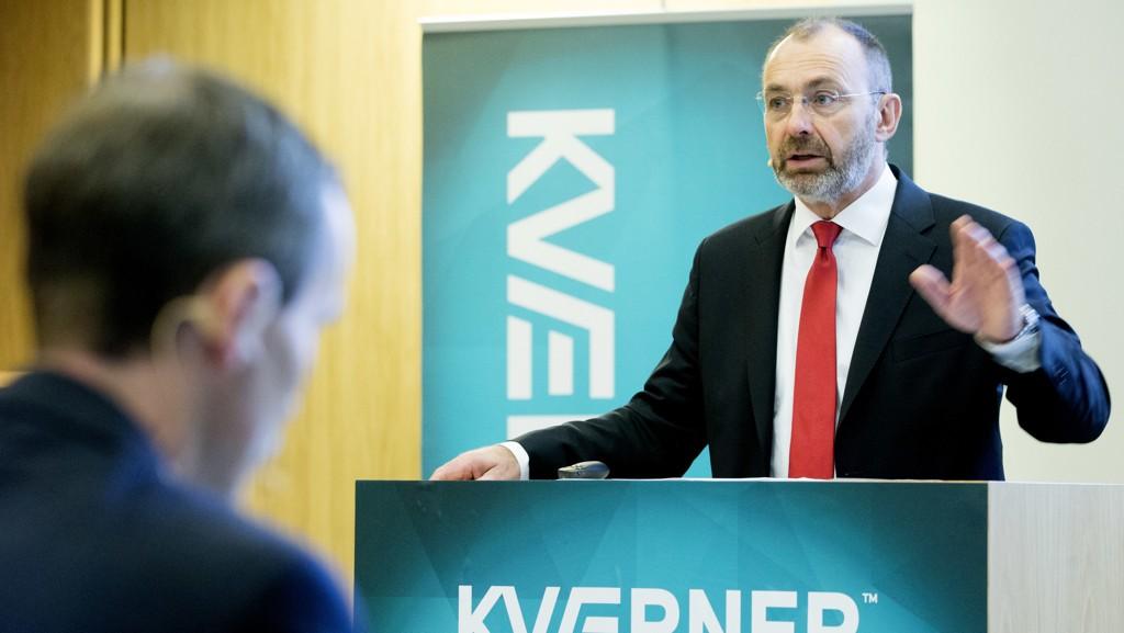 North Sea Strategic Investments, et selskap styrt av oppkjøpsfondet HitecVisionOslo kjøper seg op i Kværner. Her konsernsjef Jan Arve Haugan i Kværner ved en tidligere anledning. Foto: Håkon Mosvold Larsen / NTB scanpix