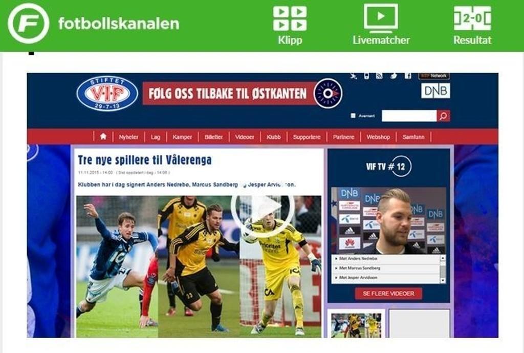Vålerenga fotball la ut bilde av feil svenske, da de presenterte tre nye spillere onsdag.