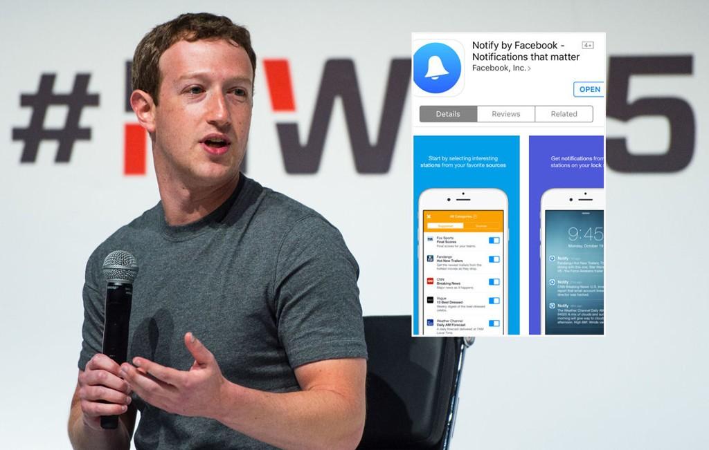 NY APP UTE: Facebook lanserte onsdag Notify i det amerikanske markedet.