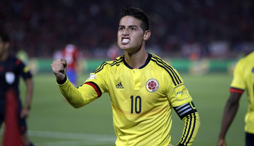 KJEKKAS: James Rodriguez er en av Colombias mange nøkkelspillere. Han scoret sist mot Chile for fire dager siden.