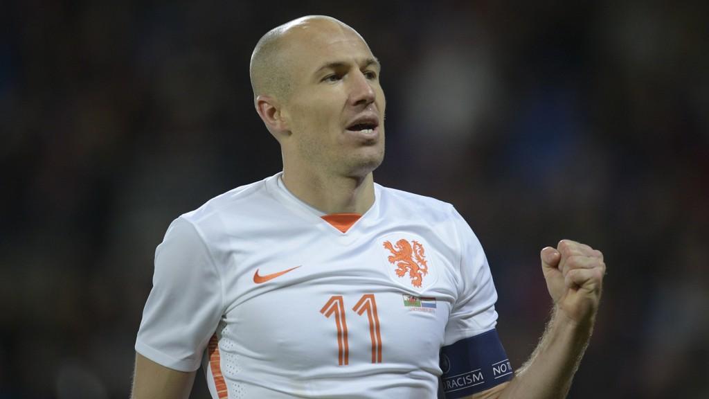 STJERNE: Arjen Robben er selvsagt på laget når man velger en ellever av spillere som ikke kommer med til EM.