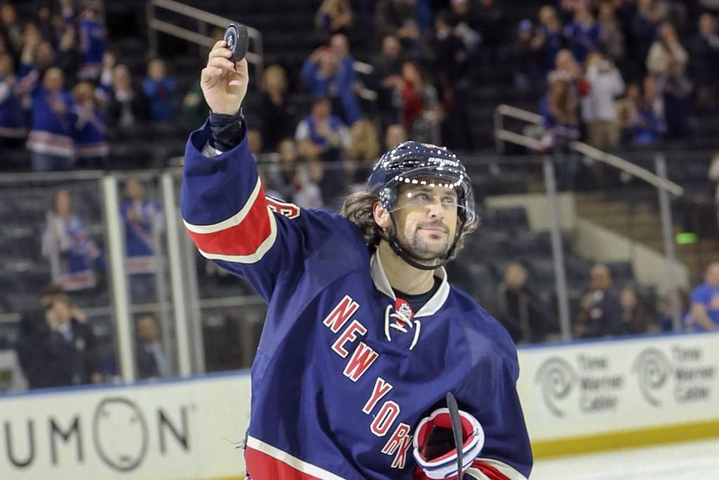 STJERNA: Mats Zuccarello er poengkongen i formlaget New York Rangers.