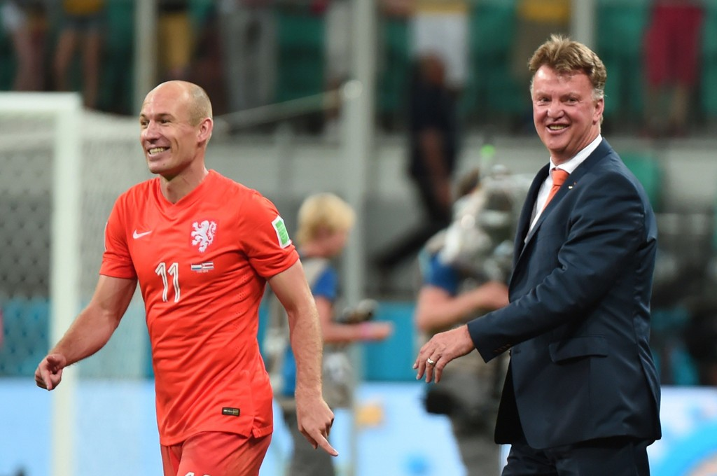 FORENES: Louis van Gaal og Arjen Robben kan forenes i januar.