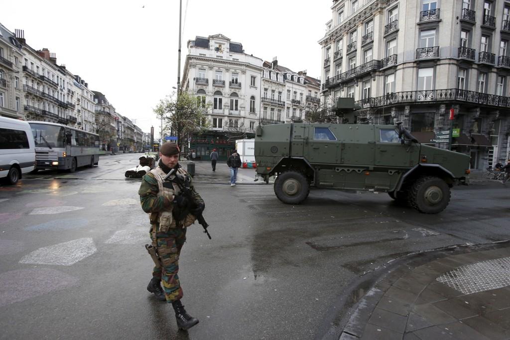 Dystert i Brussel søndag.