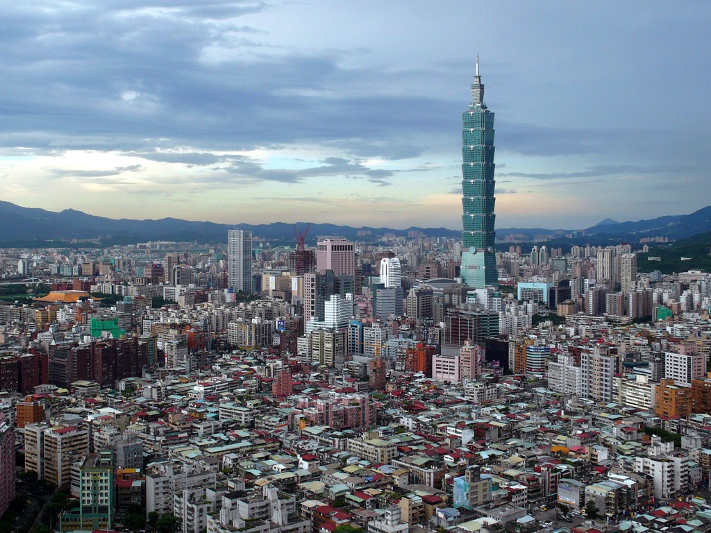 I Taiwan endte hovedindeksen TAIEX ned 1,01%. Bildet: Taipei.