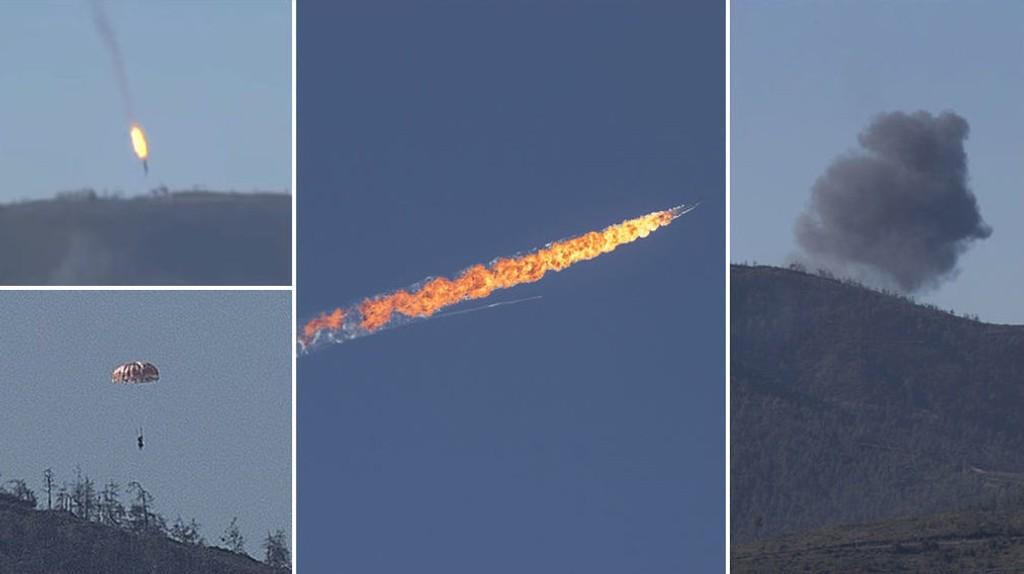 Tyrkiske myndigheter skjøt ned et russisk kampfly tirsdag.