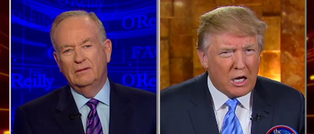 I RASISMEKRANGEL: Bill O'Reilly forsøkte å få Donald Trump til å beklage en rasistisk retweet. Uten hell.