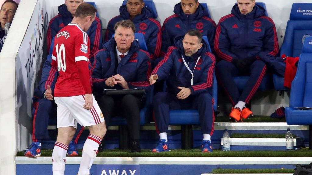 BYTTET UT: Wayne Rooney ble tatt av banen etter en drøy time mot Leicester City.