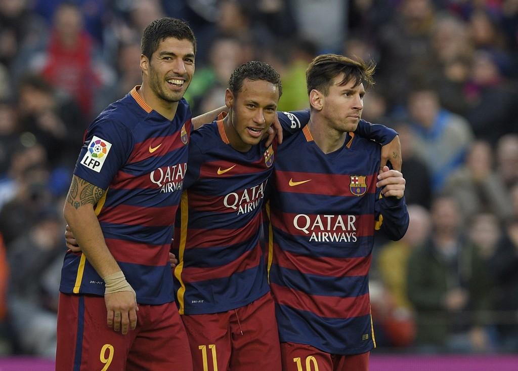 EN AV DISSE?: Barcelona-stjernene Luis Suarez, Lionel Messi og Neymar virker å være i brukbar form for tiden.