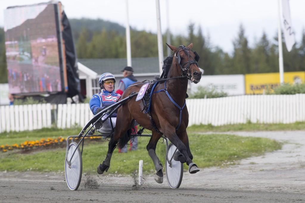 John Østman kjører et par av våre ideer denne torsdagen. foto_Roger Svalsr¿d_hesteguiden.com