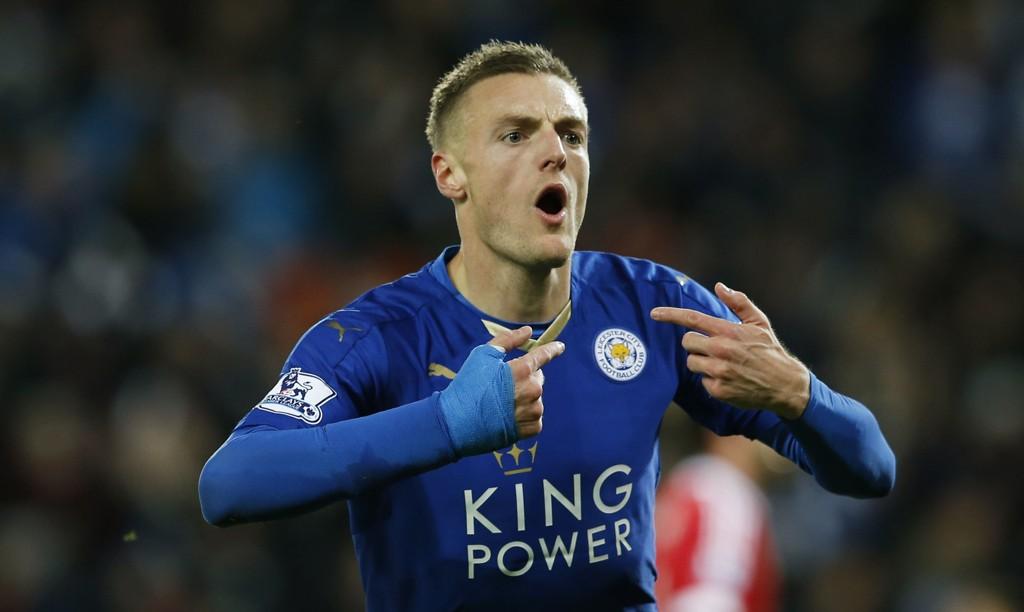 Jamie Vardy har bøttet inn mål for Leicester denne sesongen.