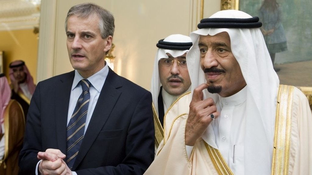 Saudi support for the building of a mosque in Norway again applicable. Floro Islamic Center holds today in one polling that has been insufficient and has applied for permission to receive money from Saudi Arabia. Labor leader Jonas Gahr Støre says no. Pictured: Prince Salman bin Abdul Aziz Al Saud (th) from Saudi Arabia meeting the then Foreign Minister Thursday in Parkveien 45.