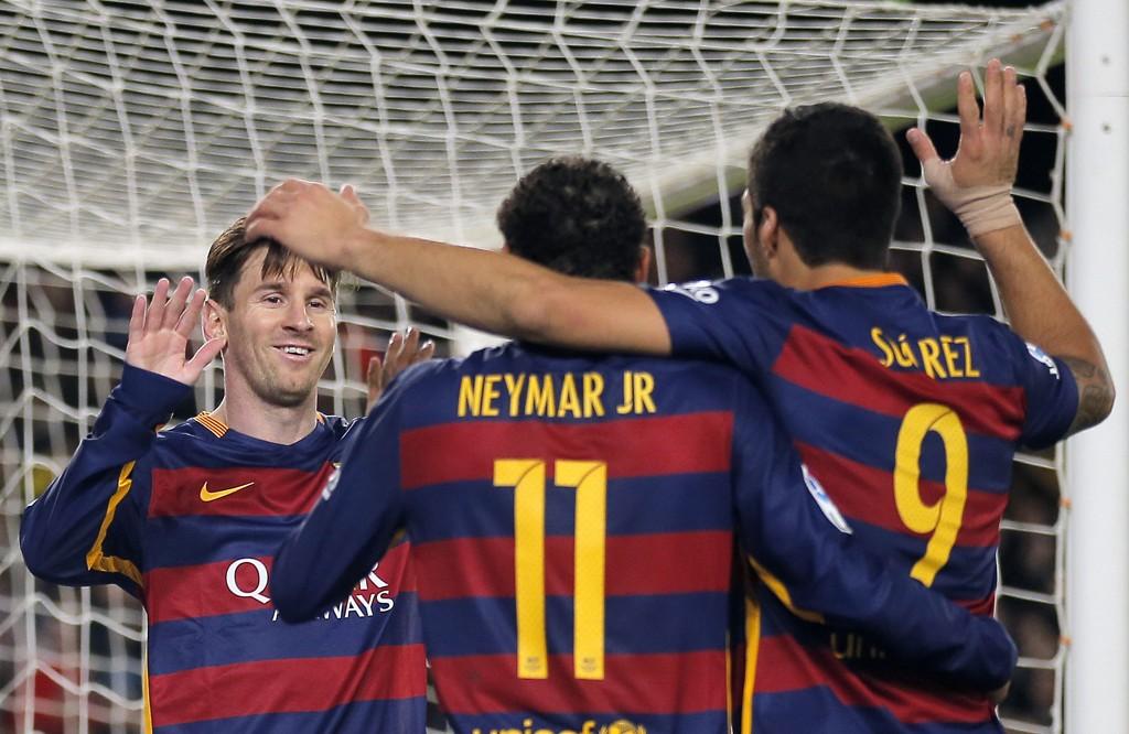 FORTJENER EN HVIL: Neymar, Luis Suarez og Lionel Messi har spilt godt nok til å fortjene en hvil.