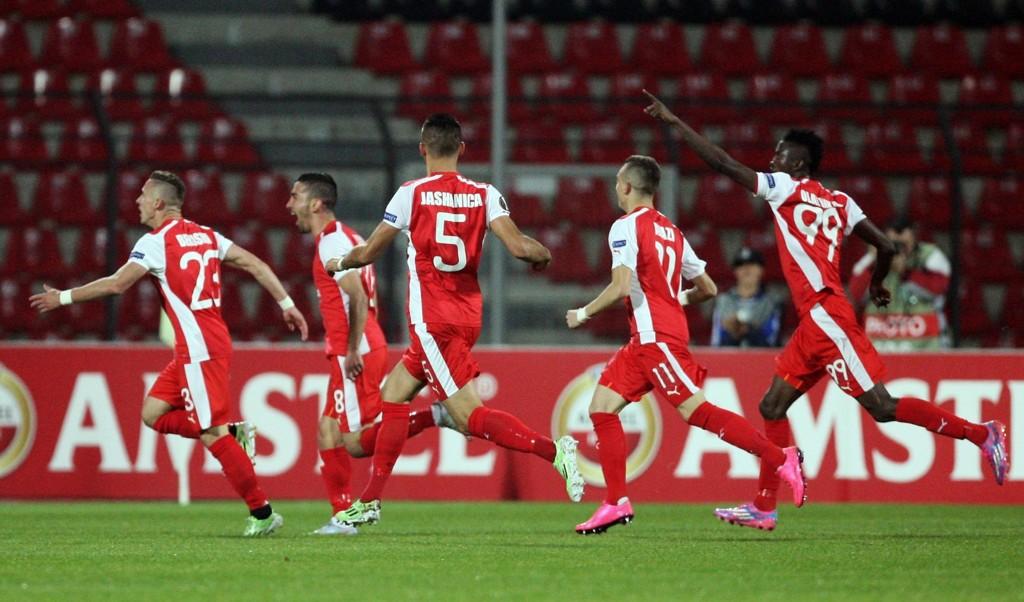 TOK EN STORSKALP: Skenderbeu rundspilte Sporting og vant 3-0 i en skikkelig overraskelse av en fotballkamp.