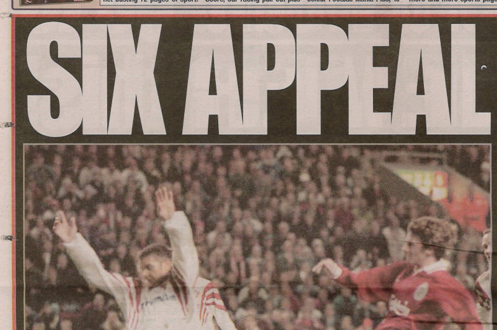 Overskriften i Daily Mirror dagen etter kampen.