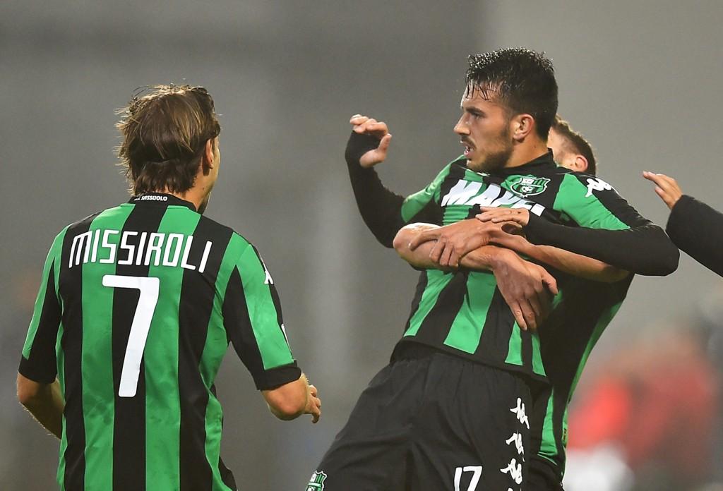 SLO JUVENTUS: Nicola Sansone ble helt da hans Sassuolo slo Juventus hjemme.