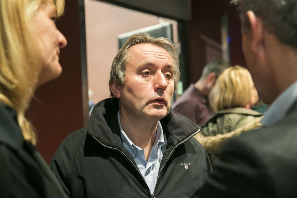 Avtroppende sjefredaktør Helge Simonnes i Vårt Land vil ikke la seg intervjue av egne journalister. Her avbildet på et arrangement på Litteraturhuset i 2012.