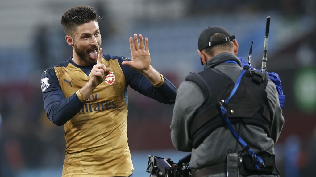 GOALGETTER: Olivier Giroud dunket inn fire mål totalt sist uke.
