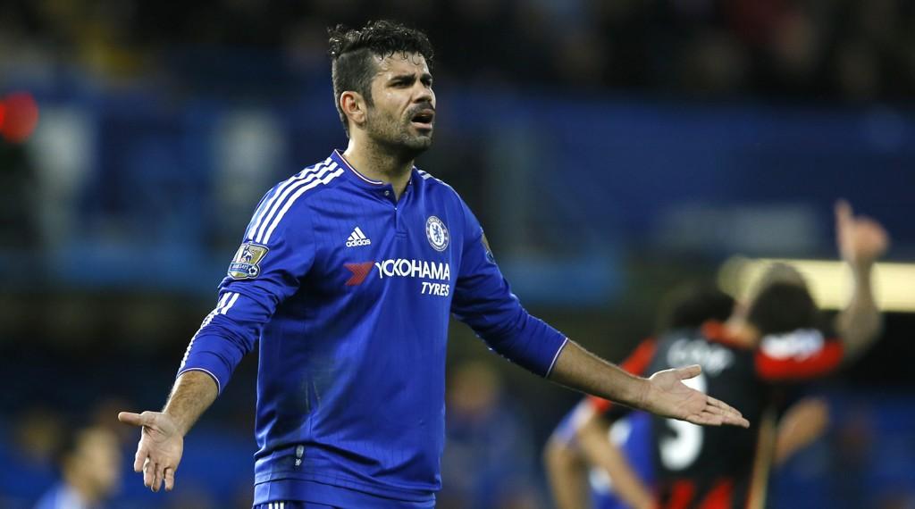TAPTE: Diego Costa og hans Chelsea tapte for Bournemouth forrige ligakamp.