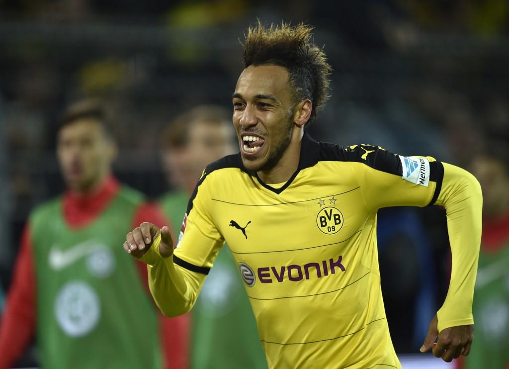 TOR-MONSTER: Pierre-Emerick Aubameyang er i glitrende form for tiden. Hans Dortmund møter Augsburg til dyst.
