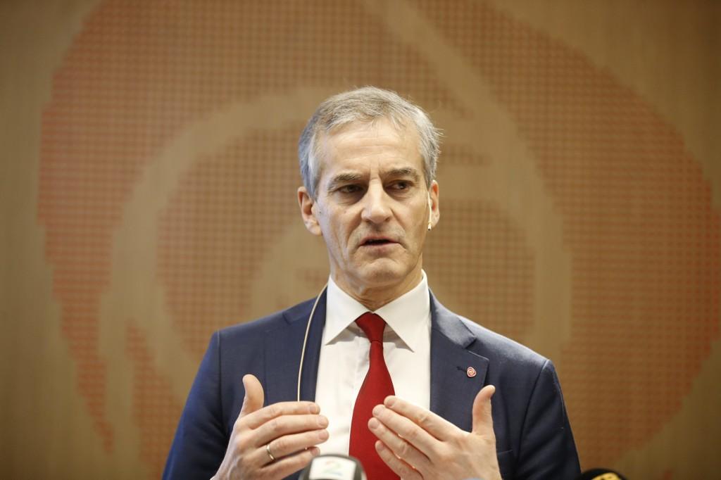 Arbeiderpartiets leder Jonas Gahr Støre oppsummerte fredag det siste halvåret på en pressekonferanse i Oslo.
