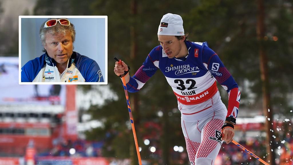 OPPGITT: Andrew Young fra Storbritannia ble nummer tre på lørdagens sprint i Toblach. Tidligere langrennssjef i Norges Skiforbund Åge Skinstad er oppgitt over de som mener at det er positivt at nordmenn ikke kom på pallen.