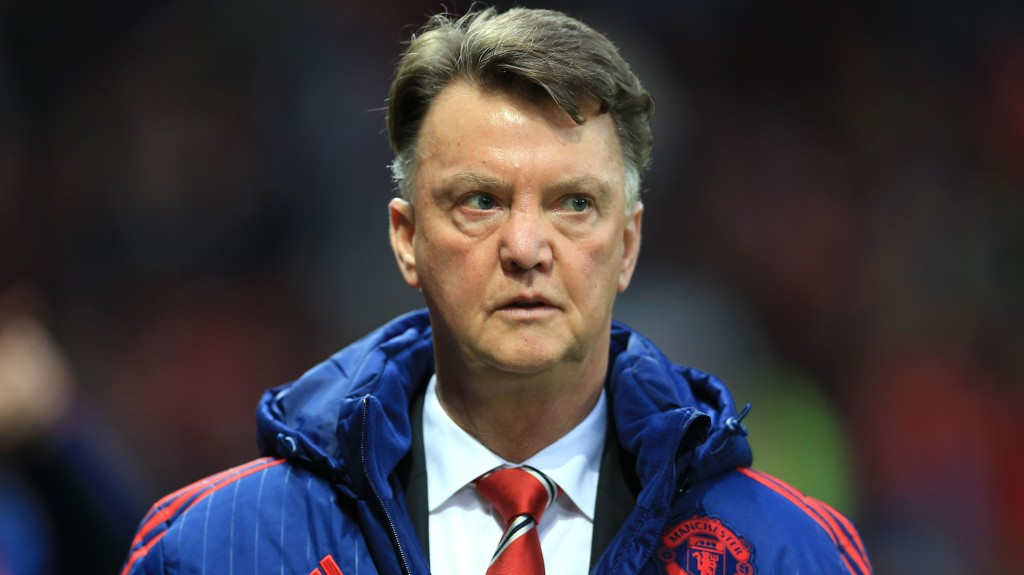 Manchester United manager Louis van Gaal prior to kick-off before the Barclays Premier League match at Old Trafford, Manchester.