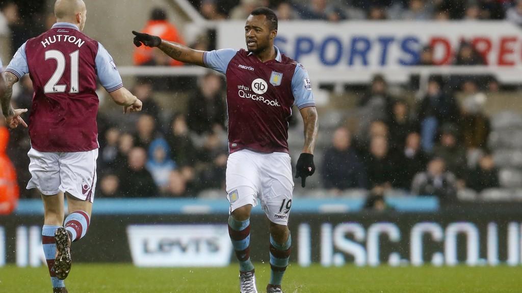 KREMMERHUS: Jordan Ayew scoret et fantastisk mål da Aston Villa tok et poeng mot Newcastle.