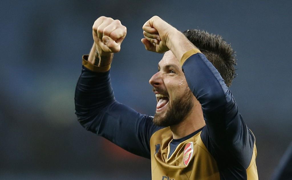 I MEGAFORM: Olivier Giroud har bøttet inn mål for tiden.