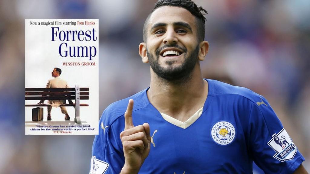 RUN! Fargeklatten Claudio Ranieri sammenligner Leicester-spillerne med Forrest Gump. Her er Leicesters Riyad Mahrez.