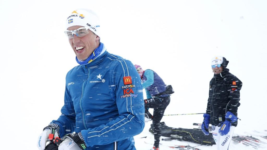 STILLER IKKE: Calle Halfvarsson er ikke i form til Tour de Ski.