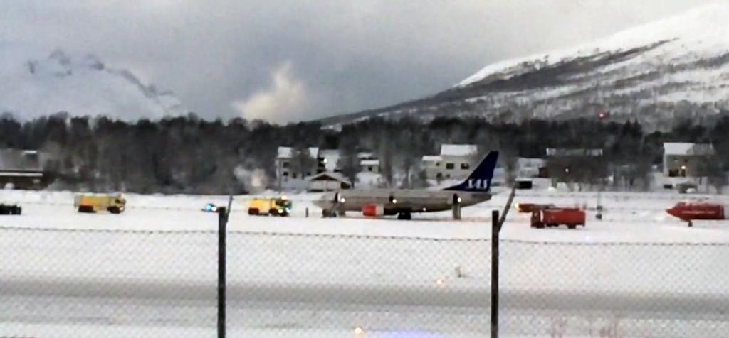 SAS-flyet ble evakuert før avgang.