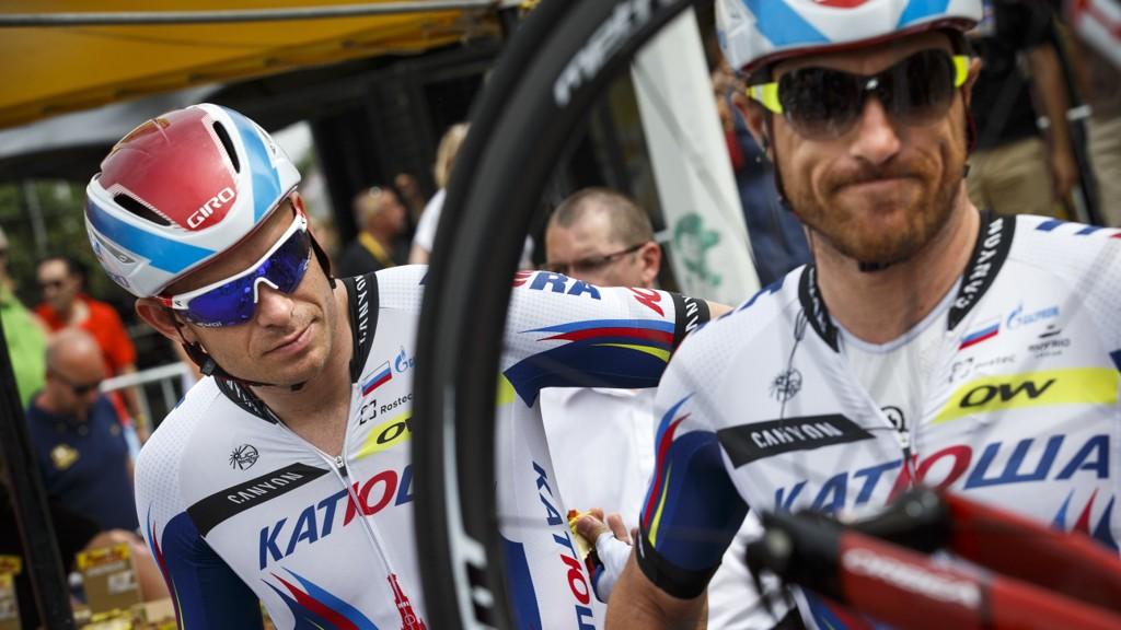 INNRØMMER: Luca Paolini (til høyrde i bildet), tidligere lagkamerat med Alexander Kristoff, innrømmer å ha brukt kokain.