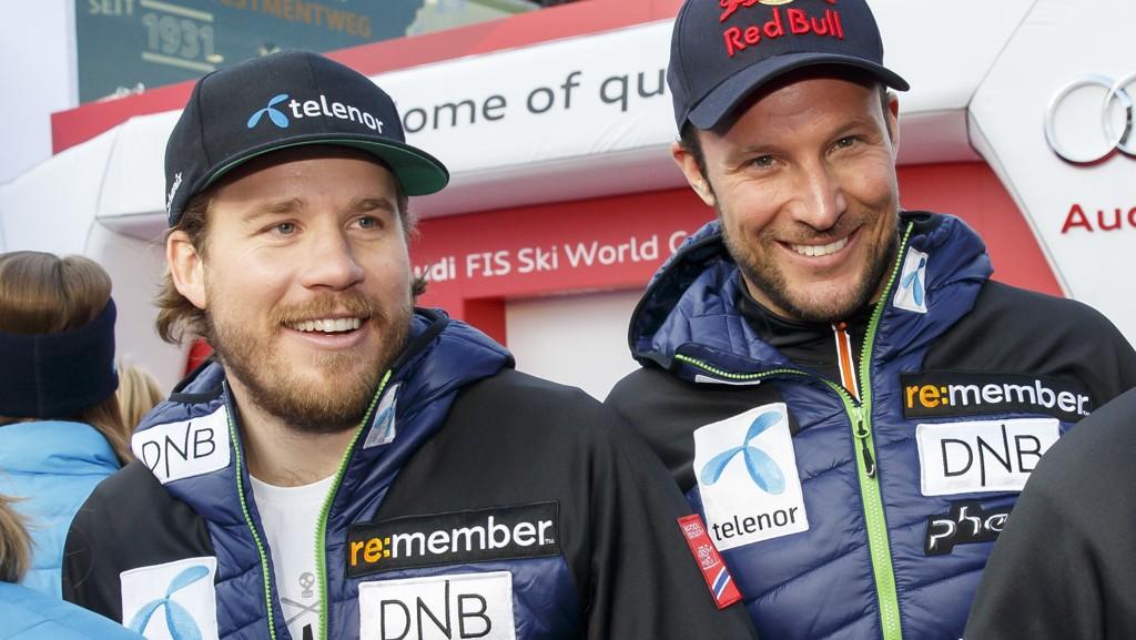 MÅ HEVE SEG: Både Kjetil Jansrud og Aksel Lund Svindal ble frakjørt på utfortrening.