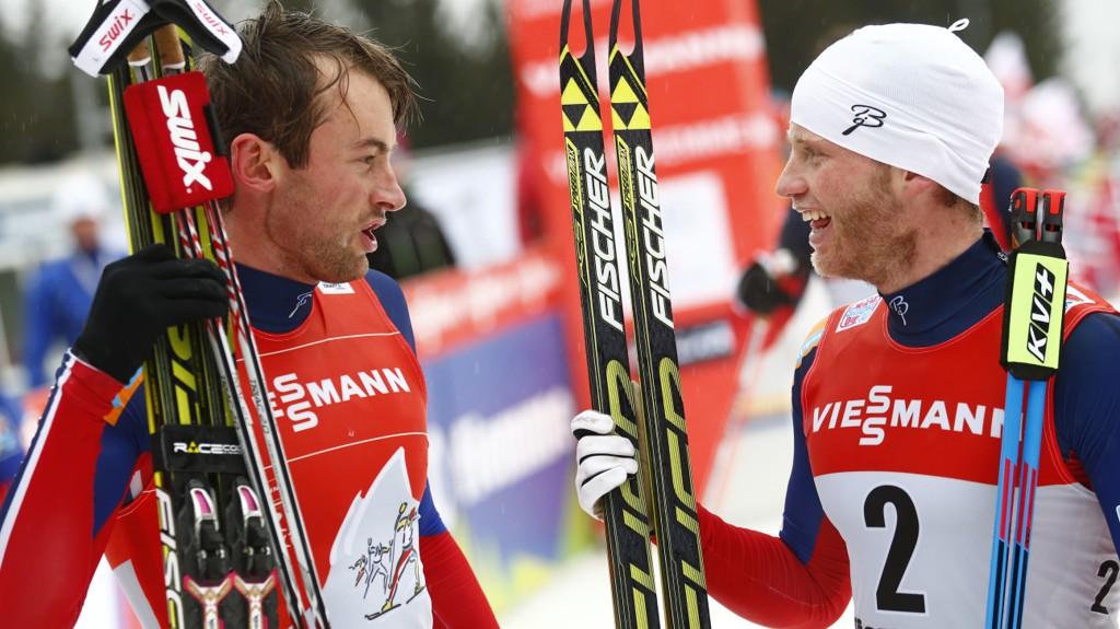 SKAL KJEMPE OM SEIEREN: Petter Northug jakter sin første Tour de Ski-seier på sitt tiende forsøk, mens Martin Johnsrud Sundby kan ta sin tredje sammenlagtseier på rad.