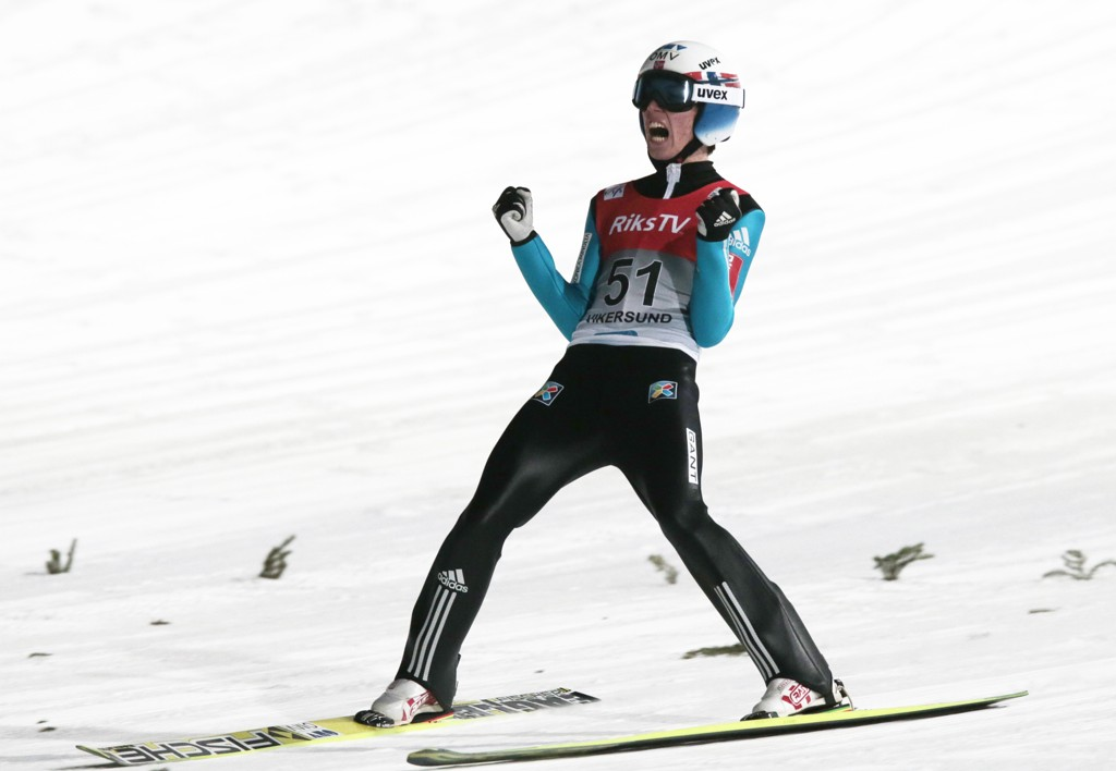Johann Andre Forfang (her under trening i Vikersund) var lengst i mandagens kvalifisering i Obertsdorf. Foto: Lise Åserud / NTB scanpix
