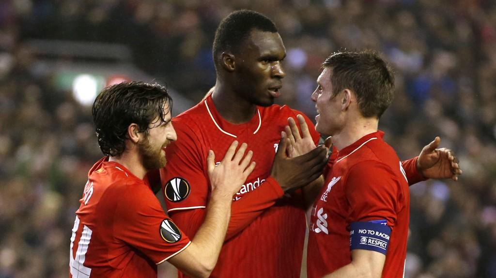 MATCHVINNER: Christian Benteke scoret målet da Liverpool slo Leicester 1-0 i helgen.