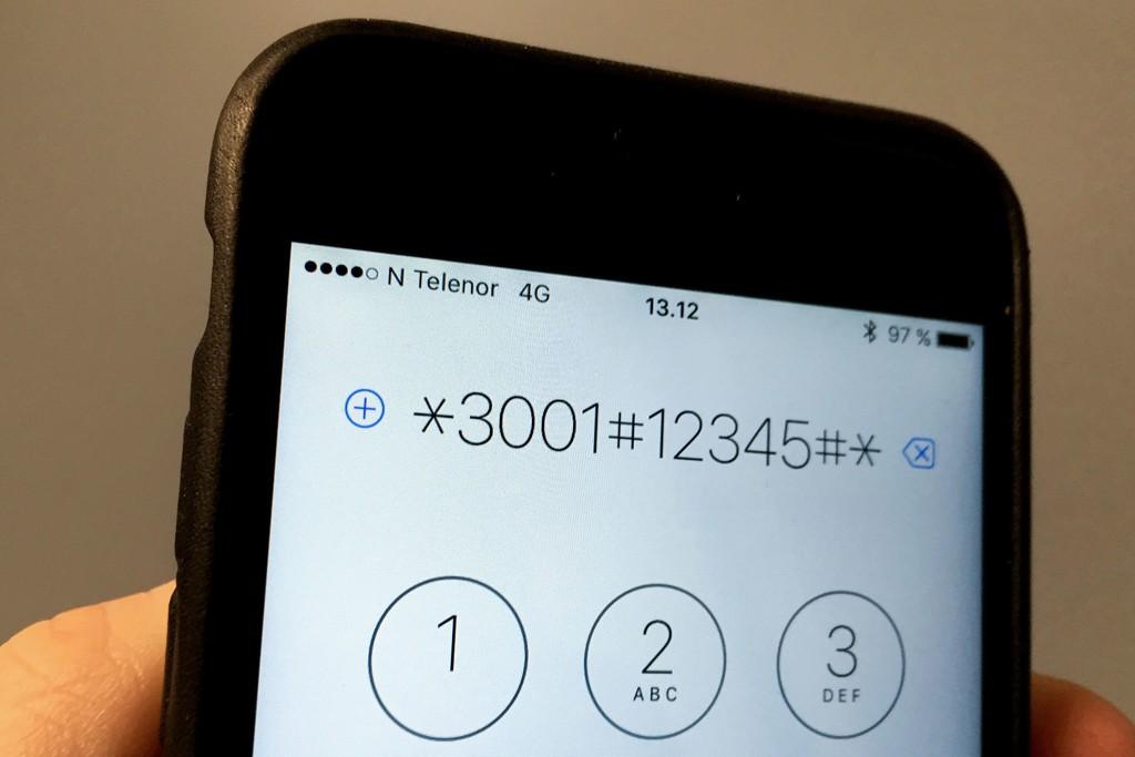 Ved å slå koden *3001#12345#* på iPhone får en tilgang til et testpanel med detaljert informasjon om iPhone.