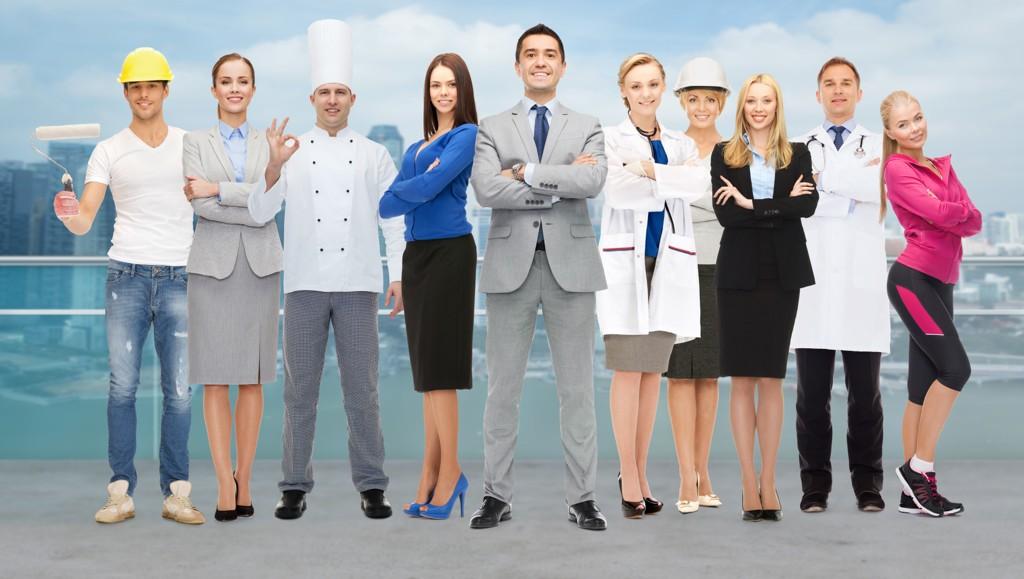 ULIKE VALG: Aksjemegler, kokk, maler, personlig trener, lege, journalist? Valgmulighetene er mange, og ofte kan det være vanskelig å bestemme seg. Foto: Colourbox