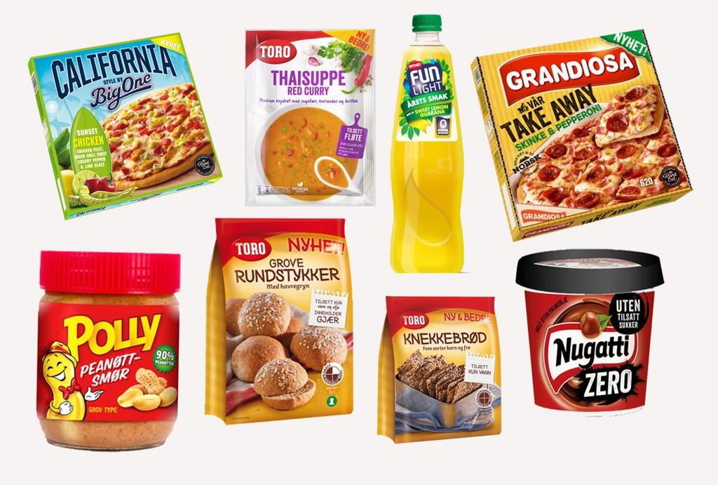 VÅRNYHETER: Dette er noen av vårens matnyheter fra Orkla Foods.